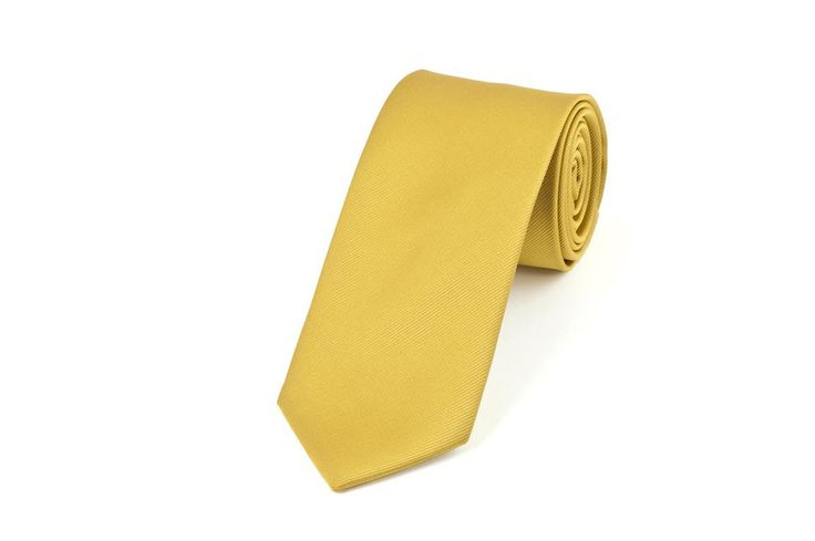 Gold Self Stripe Necktie
