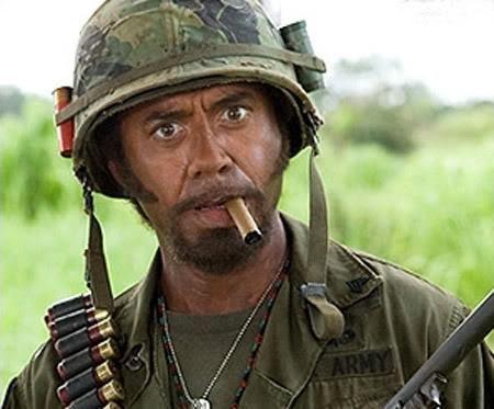 Robert Downey Jr Tropic Thunder Blank Meme Template