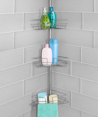 design products fourtier corner shower caddy