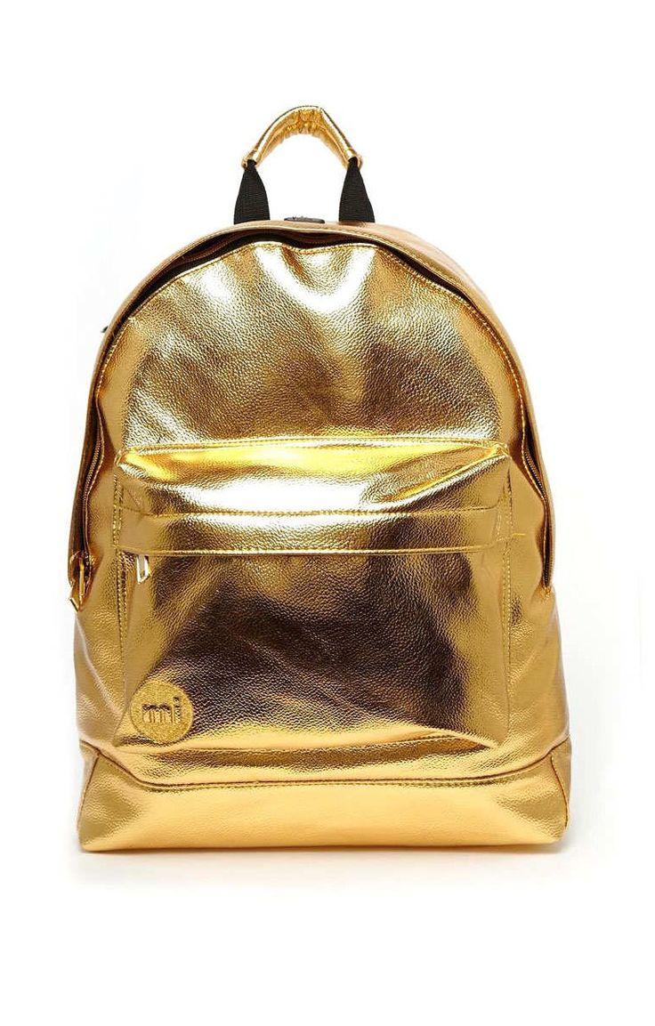 Mi Pacs Gold Metallic Backpack