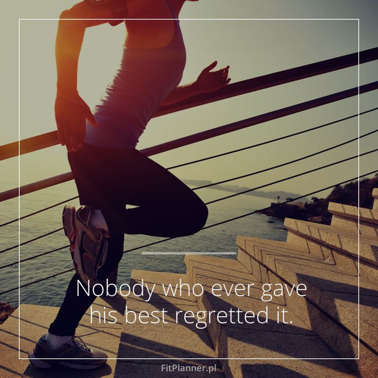 Nobody who ever gave his best regretted it!