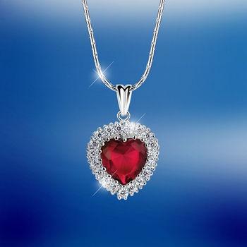 Newbridge Silverware Desire Heart Pendant Red €50.00