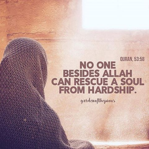 If you are any kind of hardship, never forget that the only one that Will get out of that hardship is Allah only. Seek his assistance and help for whatever troubles your heart.☝️🙏🌙🕌 🕋. Credit: @gardenofthepious #allah #islam #love #muslim #allahservant #faith #god #subhanallah #palestine #syria #kids #children
