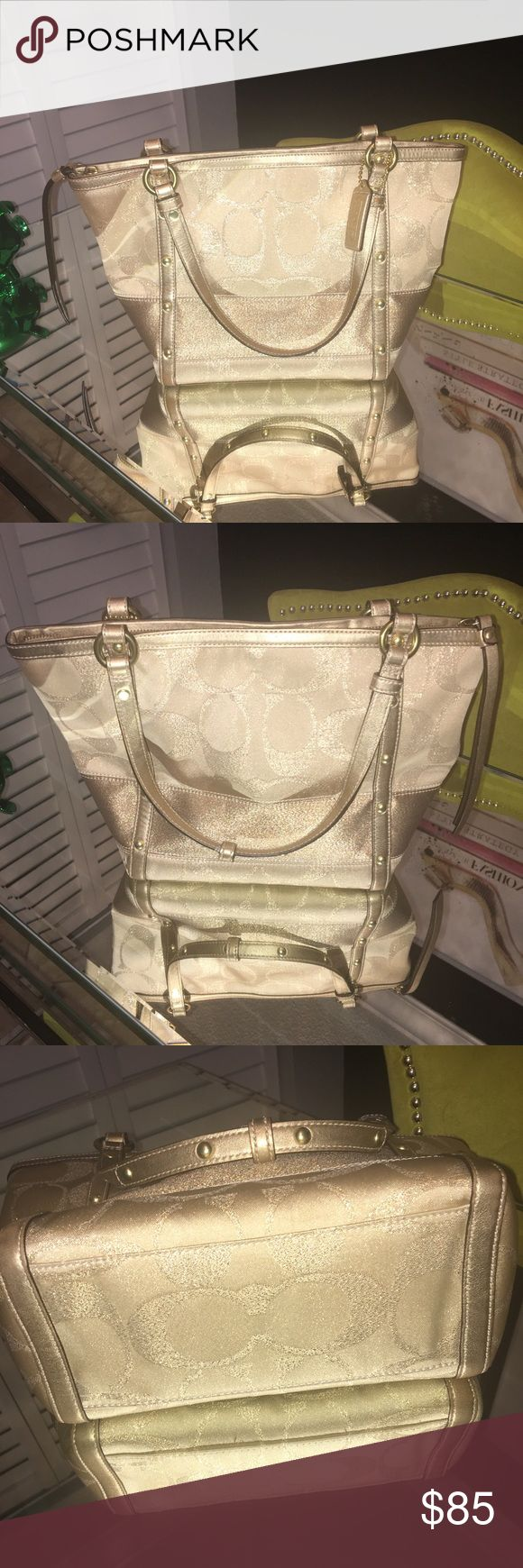 Gold coach tote bag Gold coach tote bag Coach Bags Totes