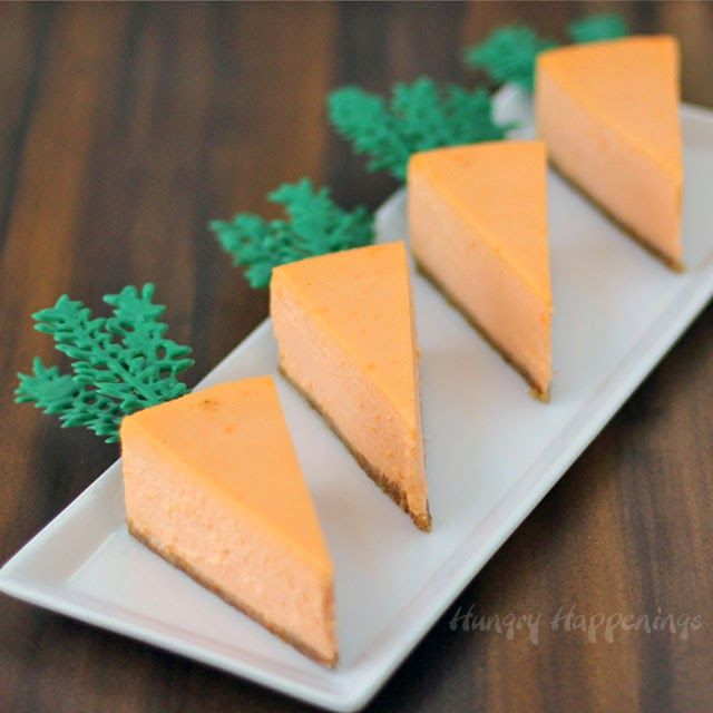 Beautiful Easter cake recipes: Orange Cheesecake Carrots at Hungry Happenings
