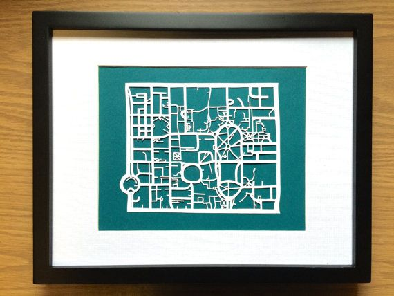 Paper cut map of University of Toronto Campus by CUTdesignsrt