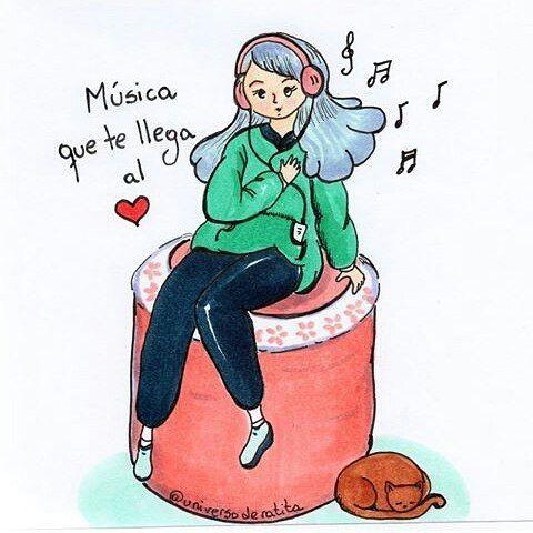 Cuál es la canción que te llega?  Por  @universoderatita  #pelaeldiente  #feliz #comic #caricatura #viñeta #graphicdesign #funny #art #ilustracion #dibujo #humor #sonrisa #creatividad #drawing #diseño #doodle #cartoon #música #canción