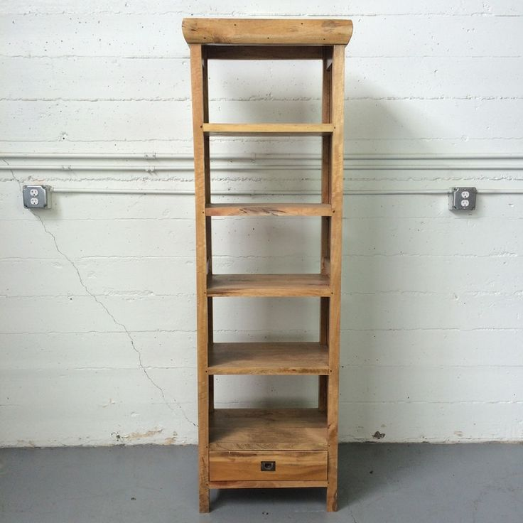 """Sederhana bookcase """"D"""", made from salvaged wood found in Indonesia."""