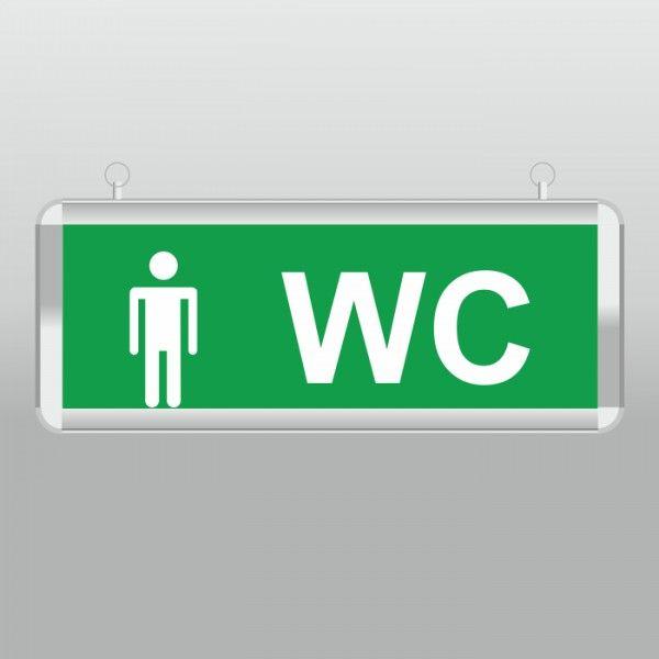 """Световой указатель """" туалет мужской"""" MBD-200 E-31"""