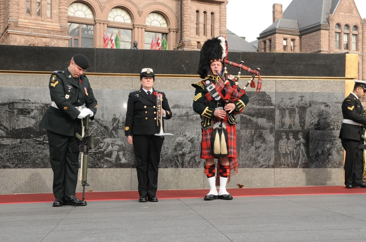 48th Highlanders w forces.ca @Queen's Park