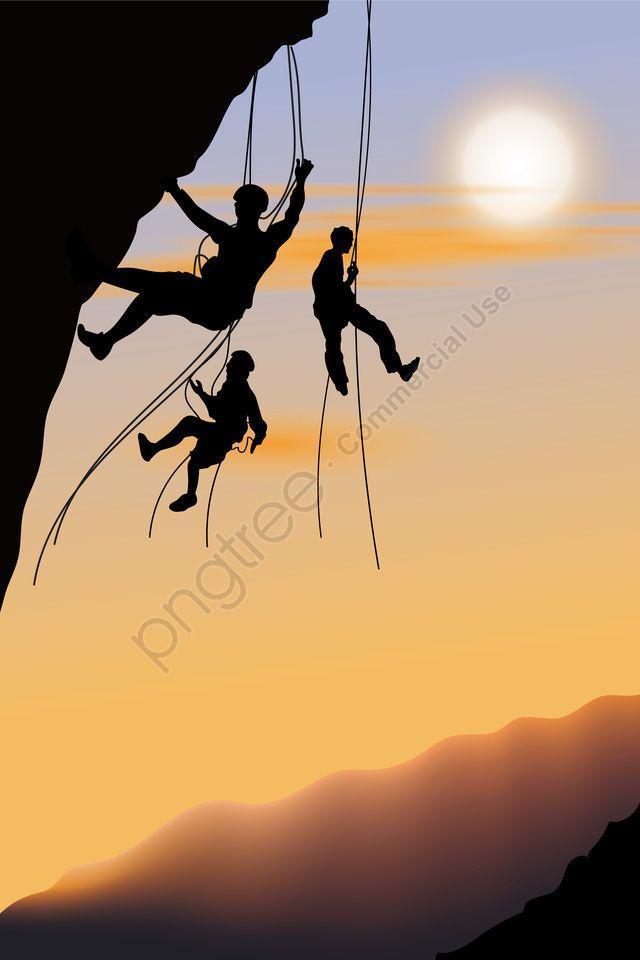 Illustration Alpinisme Alpiniste Randonnee Figure D Escalade Sport Extreme Escalade En Plein Air Illustration Image Sur Pngtree Libres De Droits Rock Climbers Climbers Rock Climbing
