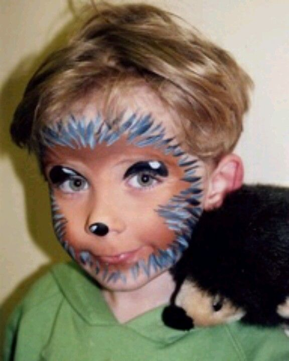 Hedgehog face paint. Egel schmink