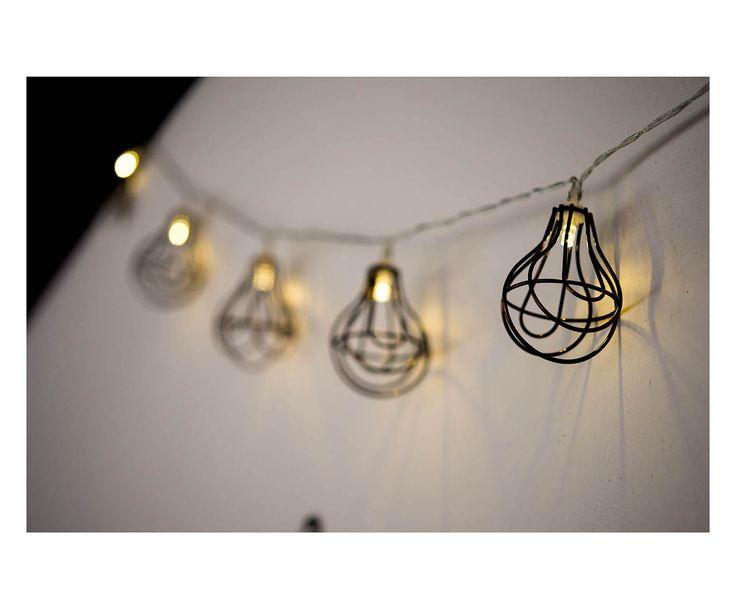 Fila di luci a forma di lampadine in vetro, 15x7 cm | Dalani Home & Living