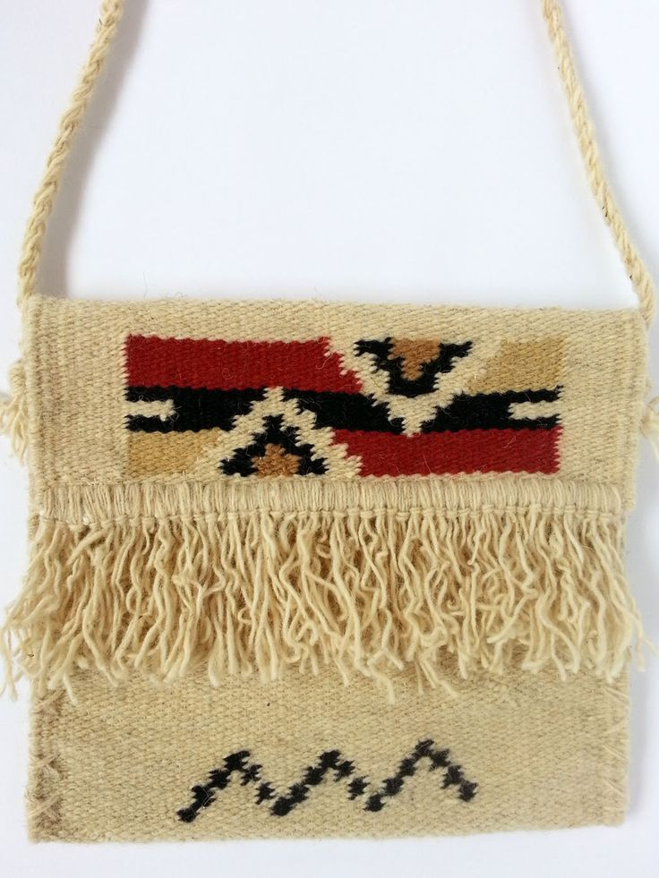 Buy now this hand woven woolen traditional bag - genuine Romanian folk art