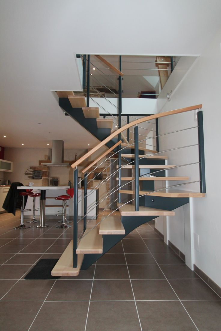 Las 25 mejores ideas sobre main courante bois en pinterest y m s main coura - Creation escalier interieur ...