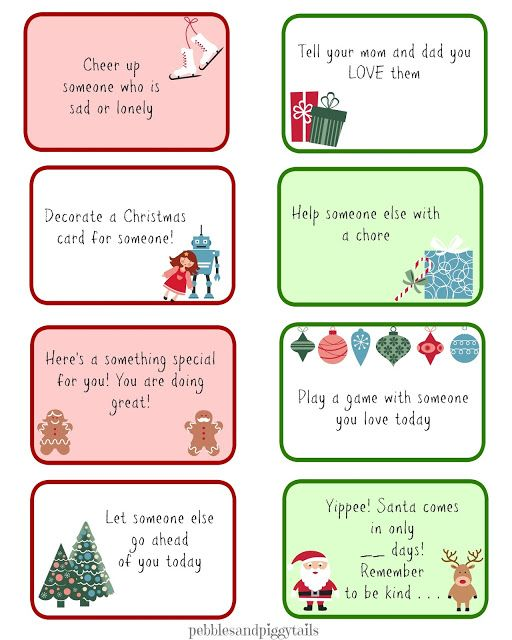 Christmas Kindness Elves free printables. Free kindness elf ideas and printable cards.
