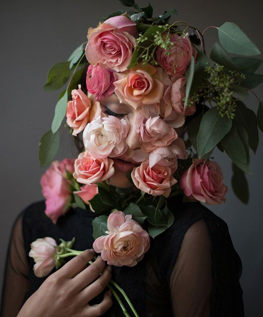 7 Best Flower Faces Images On Pinterest Face Photography