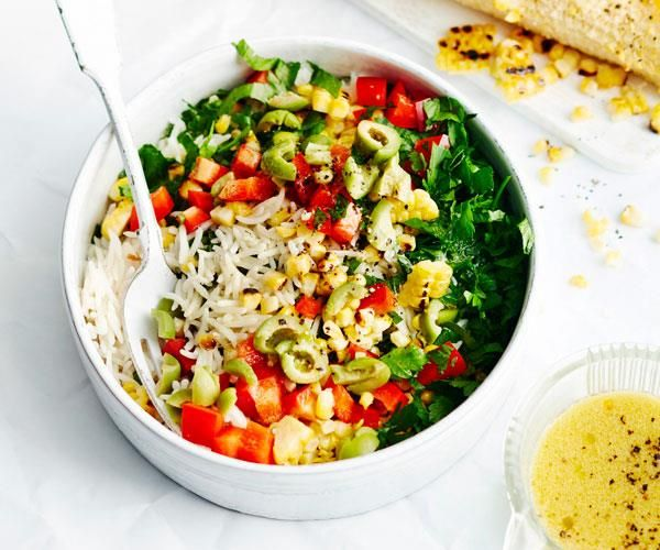 How To Make A Classic Rice Salad Recipe Rice Salad Salad Recipes Rice Salad Recipes
