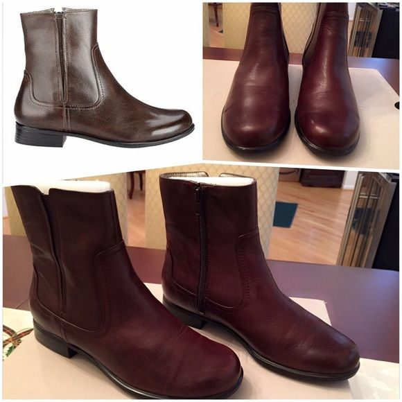 Hush Puppies Filly Booties Like new! Only worn once...very comfortable Hush Puppies Filly Booties. Small scuff mark in inner heels in both boots barely visible as seen in second photo. With box. No other defects. Shoes Ankle Boots & Booties