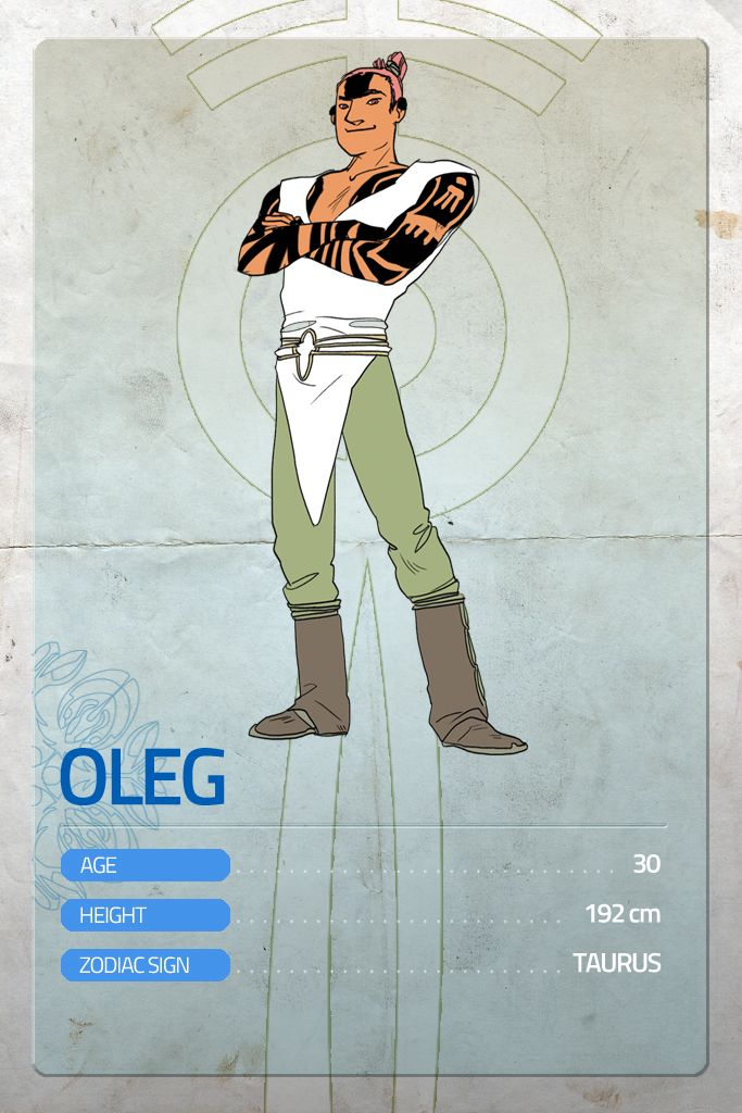 "Here's the next character card, as every monday! This week is OLEG's turn.  Remember to support Lumina here! http://goo.gl/DJeyNw — A real WARRIOR. He was practically born in the arena, her mother was a ""headblunter"" and his father was a barbar. Oleg's got an infinite list of victories on the field, and his as strong as good-hearted. He's not really the first of the class, but he's surely one of the most nice, trustworthy guy on the planet.  #Lumina #MondayHero #makeithappen"