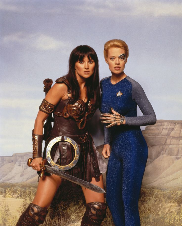 Star Trek: Voyager - Jeri Ryan as Seven of Nine and Xena & Warrior Princess - Lucy Lawless as Xena