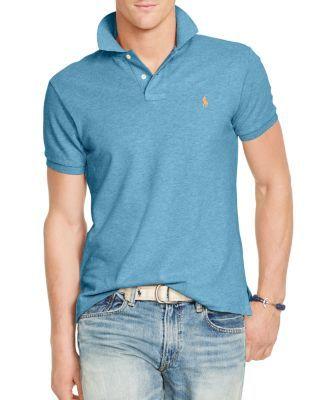 Cotton Mesh Classic Fit Polo Shirt, Marine Heather. Men\u0027s PolosPolo ShirtsPolo  Ralph LaurenMen\u0027s ...