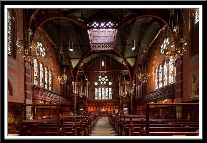 Inside Trinity Church Boston
