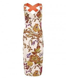 Ted Baker Dresses USA | Details about Ted Baker AMABEL Bodycon Floral Midi Dress UK 8 BNWT