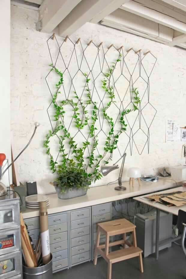 I Want To Try This With Wire Hangers Vertical Garden Design Vertical Garden Indoor Indoor Decor
