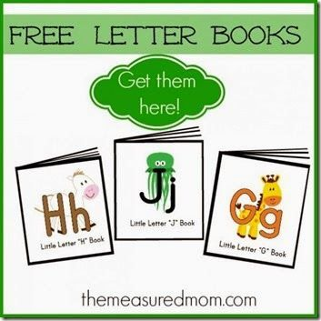 Rhyming Alphabet Letter Books   FREE printable mini book for each