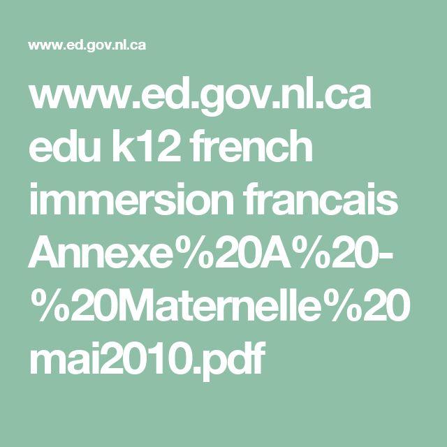www.ed.gov.nl.ca edu k12 french immersion francais Annexe%20A%20-%20Maternelle%20mai2010.pdf