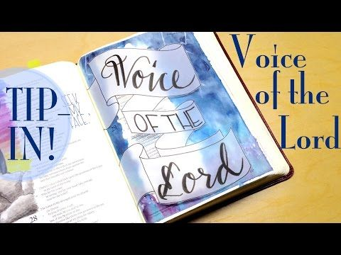 Bible Journaling: Voice of the Lord (Psalm 29) - YouTube