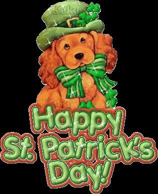 Happy St. Patrick's Day green dog gif sparkle st patricks day