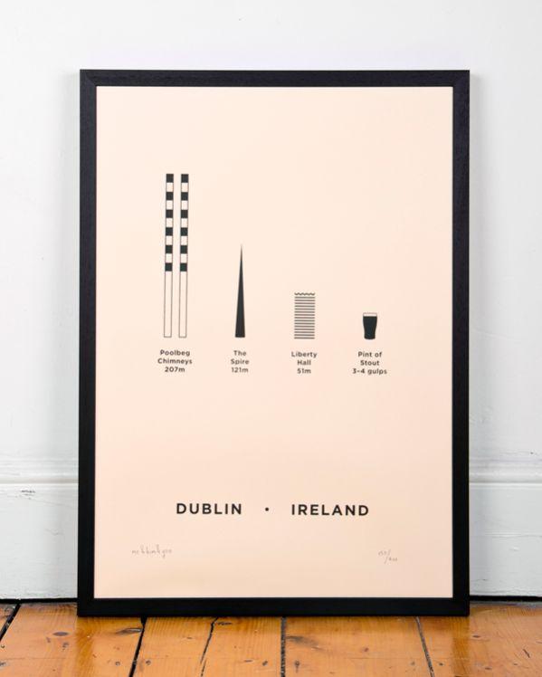 MeAndHimAndYou Dublin city print with beer