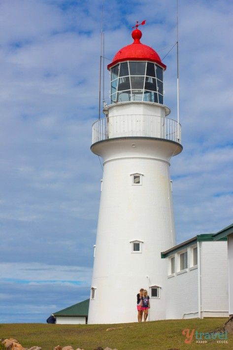 Busted Head Lighthouse in the Town of 1770, Queensland, Australia