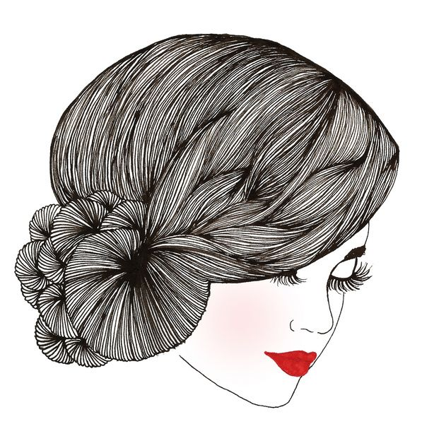Vintage Lady - Illustration By Chrissy Lau Art Print
