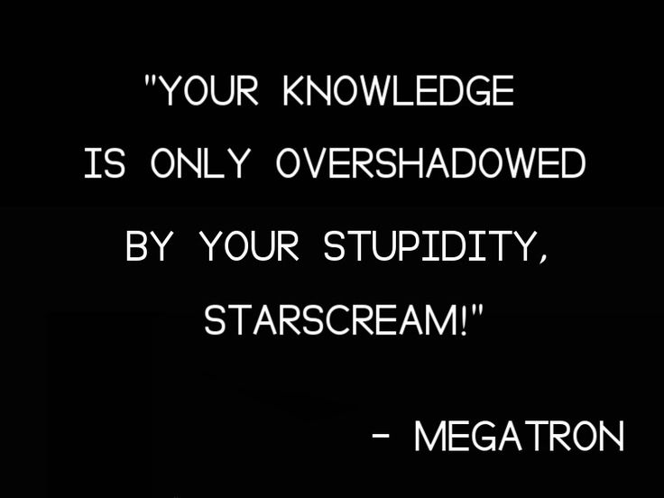 """""""Your knowledge is only overshadowed by your stupidity, Starscream!"""" >-> whaat ;-;"""