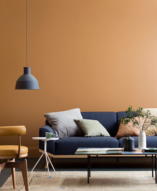 3 Colors of the Year 2017 by Haymes via Eclectic Trends. It's getting darker, cosy and slightly moody. See three options to snuggle up in a warm interiors.