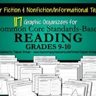 Common Core Standards Graphic Organizers for ELA Reading Informational Texts and Fiction/Literature for Grades 9-10 (Also includes the organizers f...