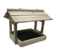 PLAT  Fly Thru large with screen bottom Worlds best Cardinal feeder!  Large Platform Fly Thru Feeder. All screws. Screen bottom.  Measures 19 x 14 x 16 tall.  Owned & Designed in Canada (soon to be made in Canada again)