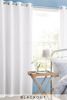 Cotton Blackout Eyelet Curtains Studio Collection By Next (122806) | £40 - £110
