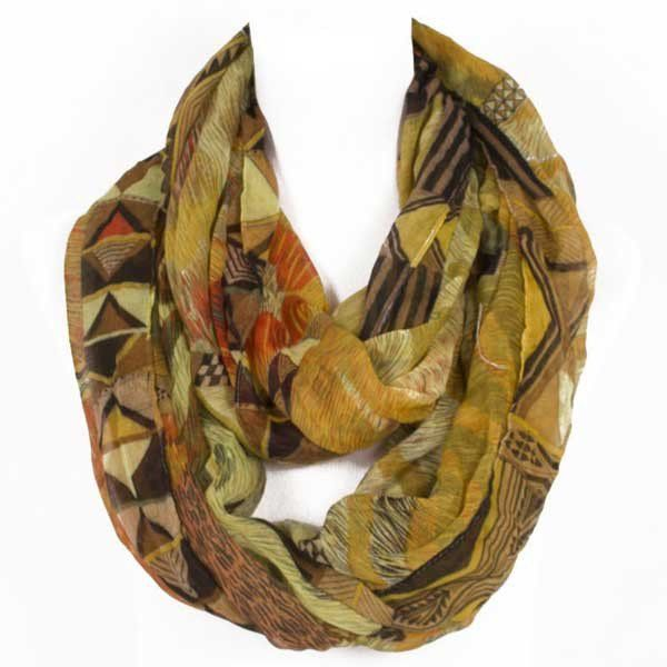Nile Queen With colours that involve dreams of faraway distant lands, this infinity scarf is perfect for adding a bit of wow to your outfit.