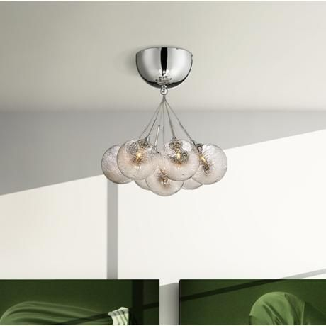 Possini euro honeycomb glass 11 wide chrome ceiling light for Possini lighting website