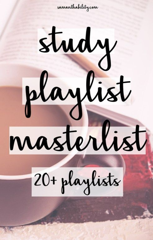 study playlists masterlist for college students