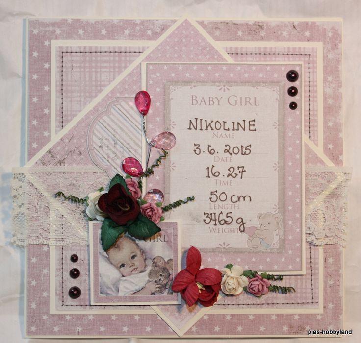 babyjentekort babygirlcard
