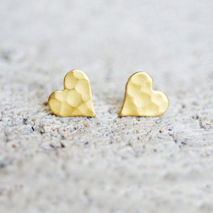 Heart Stud Earring (Gold)