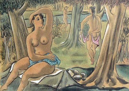 alejandro bonome - galeria marchiaro- la hora del baño