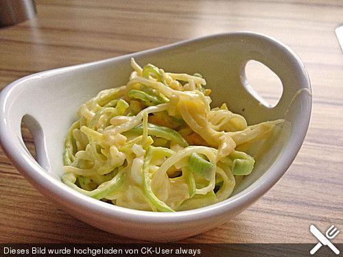 Porreesalat, ein schönes Rezept aus der Kategorie Eier & Käse. Bewertungen: 15. Durchschnitt: Ø 4,2.