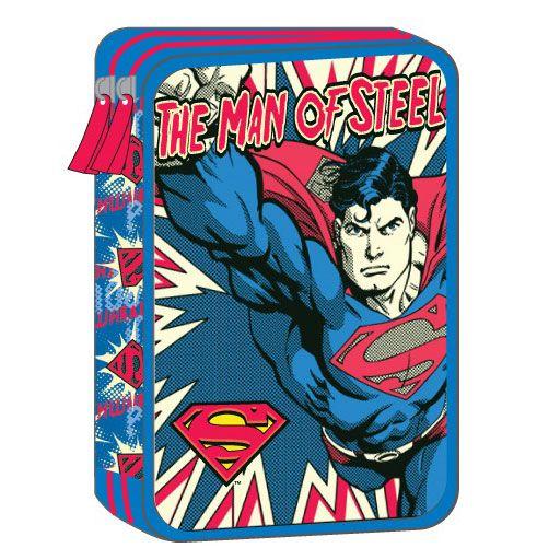 Superman Κασετίνα Διπλή Γεμάτη