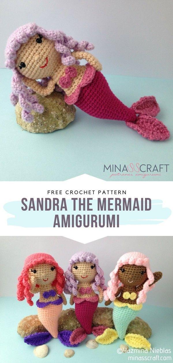 Lovely mermaid pattern in Spanish and Catalan   Free Amigurumi ...   1260x600